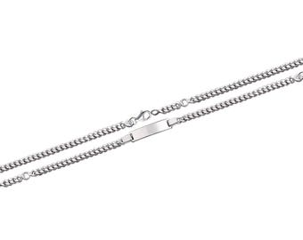 Silver curb chain Bracelet for baby child 16 cm with engraved name 61438205