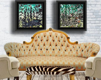 floral print Wall art Contemporary Abstract Decorative Home Decor Original affordable fine art artworkforsale art for walls interior design