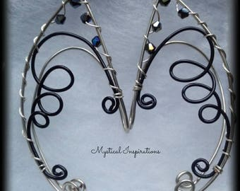 Elf Ears Fairy Ears Unique Loop Design Black and Silver