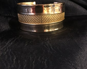 22 Kt Gold Plate Cuff Bangle