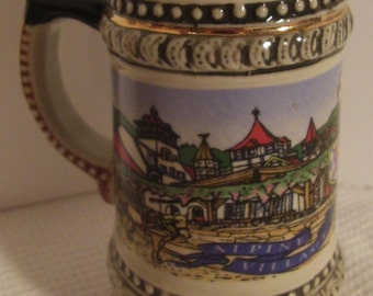 Stein, Ceramic, Souvenir, Helen GEORGIA, Alpine Village, Miniature Mug, Pottery