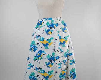 Lovely Wrap A-Line Skirt In Cotton