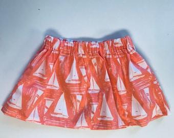 Sailboat print Skirt - size 3T