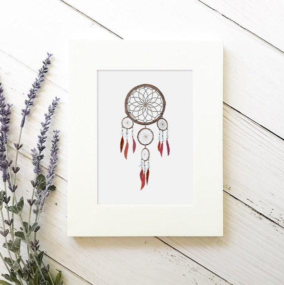 Dream Catcher Nursery - Nursery Dream Catcher - Dream Catcher Decor - Tribal Nursery - Tribal Boho Nursery - Feather Wall Art - Tribal Print