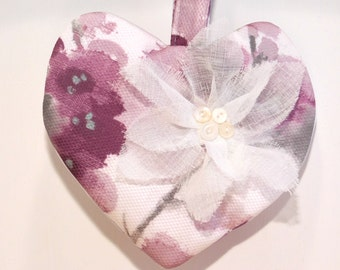 Girls Wedding Purse, Bridal Clutch Bag, Heart Purse, Floral Wedding Purse, Flower Girls Purse, Purple Wedding Bag, Flower Wedding Bags