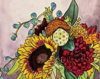 Original watercolor painting 18/100