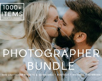 Lightroom Bundle Professional Photo Editing Lightroom Presets & Lightroom Brushes for Portraits, Weddings and Newborns by LouMarksPhoto