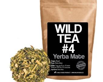 Wild Tea #4: Yerba Mate Tea from Brazil by Wild Foods (4 ounce)