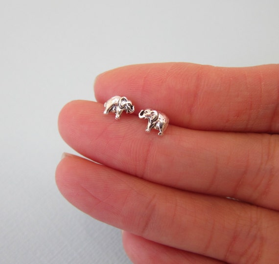 tiny com earrings dp elephant amazon stud silver sterling inch