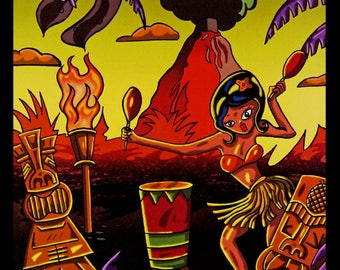 Hula Girl & Tiki's