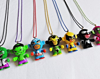 Marvel Comics Kawaii Chibi Figure Charm Necklace