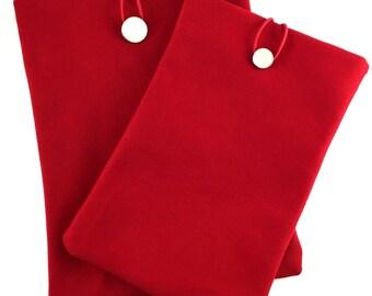 Red Ipad Mini Case,Canvas Ipad Sleeve,Red Ipad Cover,Thick Canvas Ipad Case,Canvas Fabric,Ipad mini Case,Red Book Case,Canvas Book Case