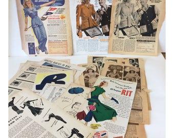 Vintage 1940's Fashion Paper Pack