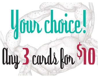 Any 3 Greeting Cards for 10.00