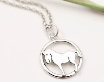 Year of the Horse Necklace - Sterling Silver Horse Necklace - Chinese Zodiac - Zodiac Sign Jewellery - Horse Gifts