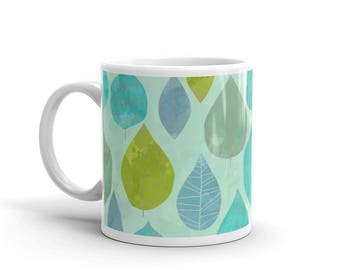 Spring leaves Ceramic mug