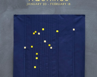 Aquarius Constellation Block PDF pattern - Quilting Patchwork