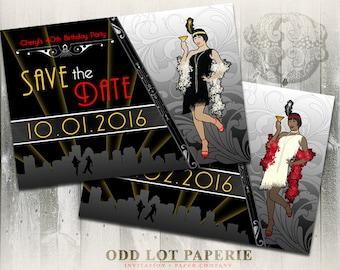 Gatsby Art Deco Invitation, Roaring 20's Birthday, Corporate Event Party, Flapper Girl, DIY Printable Invite, Great Gatsby, Art Deco