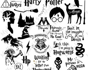 Harry Potter Svg, 25 Harry Potter Files Pack, Harry Potter Quotes Svg, Harry