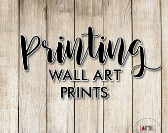 Professionally Printed Wall Art Prints, Choice of 5x7 inch or 8x10 inch