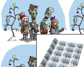 Zombie Carolers Wrapping Paper