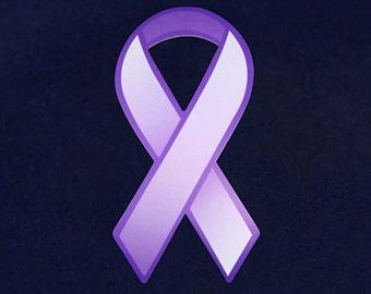 50 Large Paper Purple Ribbons (50 Ribbons)  (PRIB-01-4)