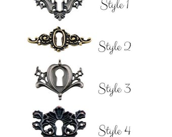 Tim Holtz Idea-Ology locket keys  - keyhole charms - vintage style - antique style