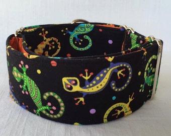 Gecko Galore Martingale Dog Collar