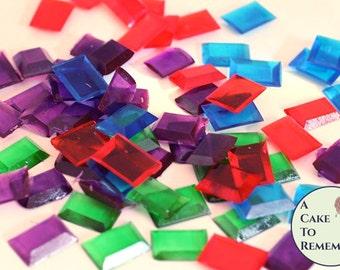 50 edible gems, sugar gems, sugar jewels for cakes, edible diamonds, edible jewels, Jewels For Cakes,  Cake Decorating, treasure chest cakes