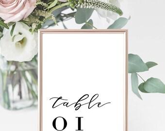 Add On   Table Numbers   Wedding Event Invitation Suite   Printable Digital File Printed Invite Invitations Stationery