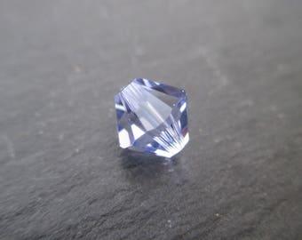 8 mm: 2 Swarovski Crystal bicone beads Provence Lavender - light purple