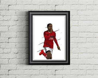 Ryan Sessagnon - Fulham FC - A4 Football Poster