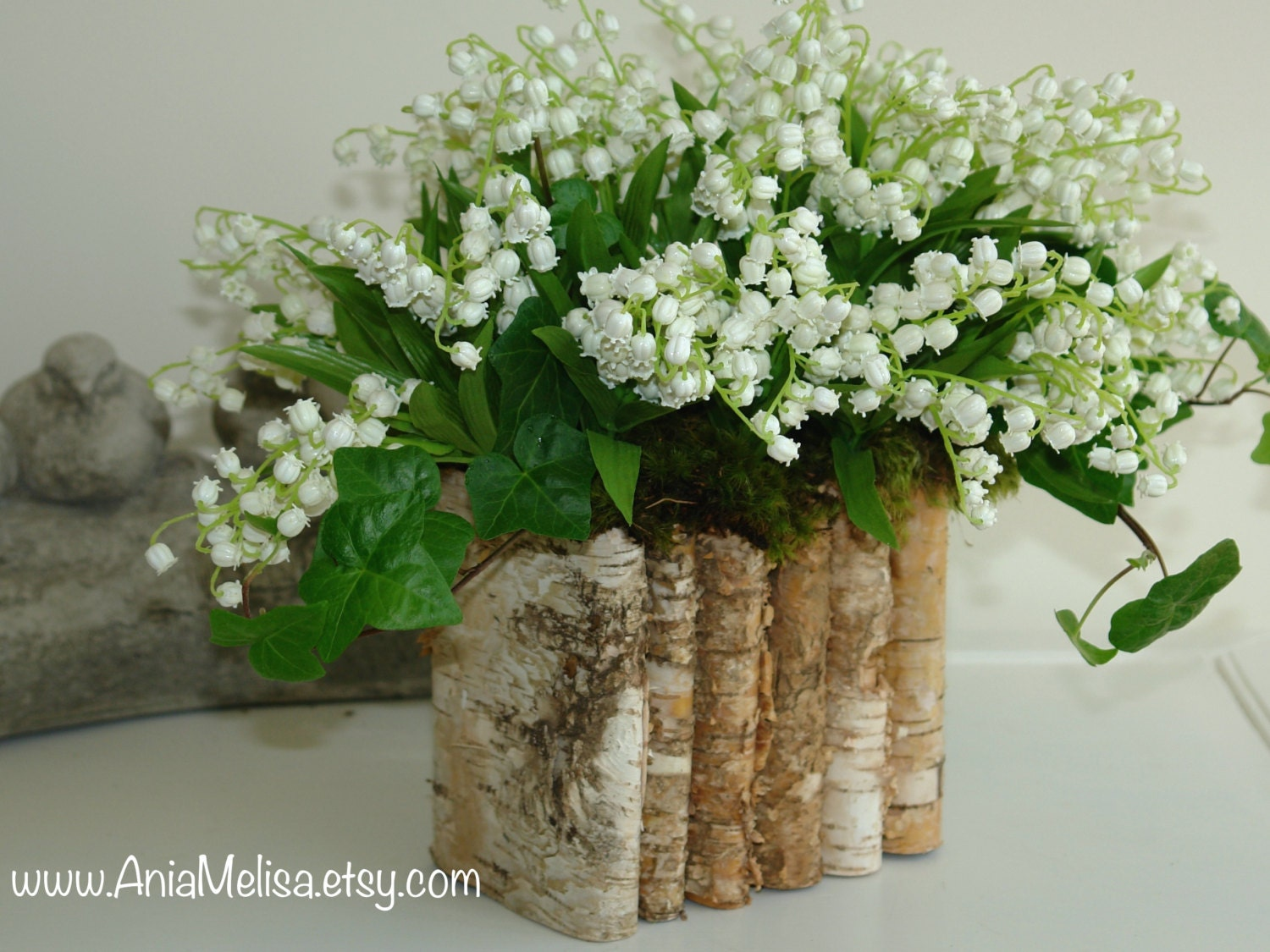 Natural birch bark wood vases wedding flower pot bridal zoom floridaeventfo Image collections
