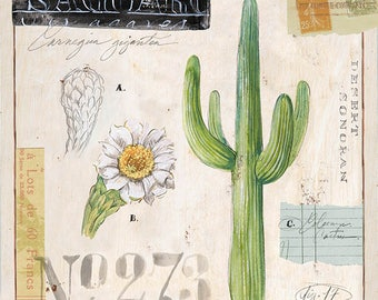 Saguaro Cactus Print, Cactus Illustration, Cactus Art, Cactus Decor, Cactus Wall Art, Saguaro Cactus