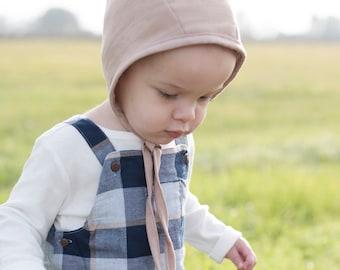 Natural Tan Bonnet; Baby Bonnet; Toddler Bonnet