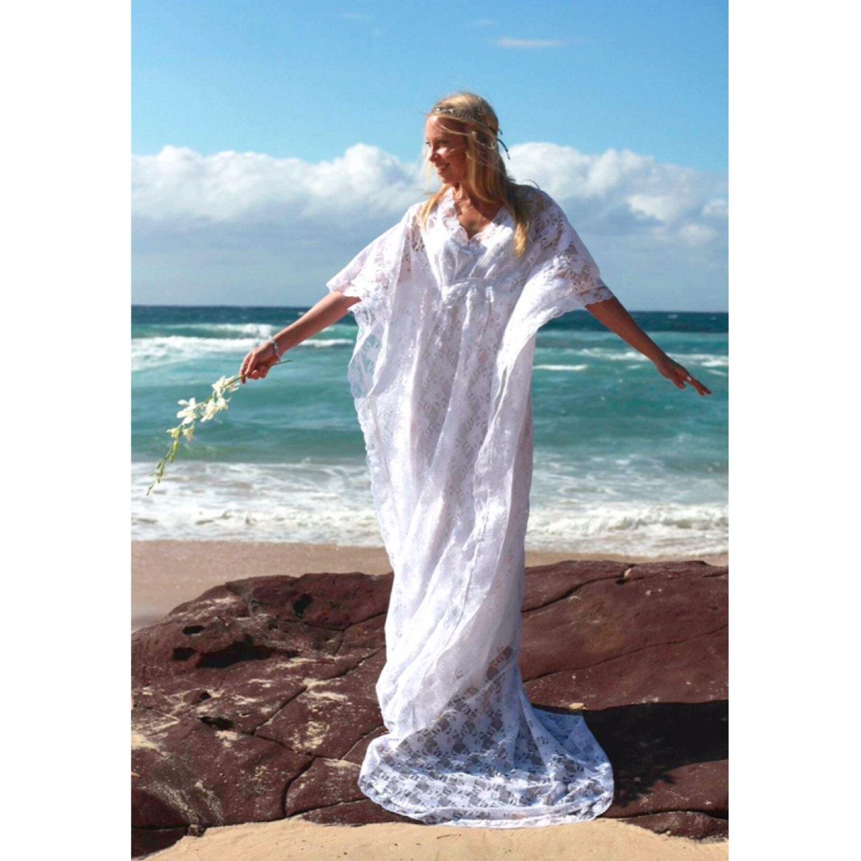 Gypsy Lace Beaded Train Bridal Kaftan Vintage Lace Beach