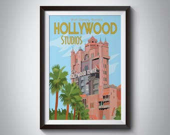Hollywood Studios | Travel Poster | Instant Download
