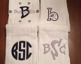 Boys burp cloth set of 4 plus onesie