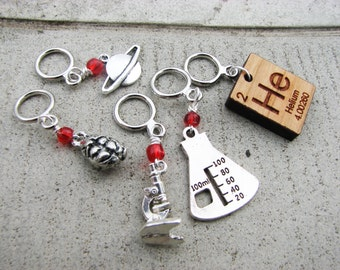 Blinded With Science Non-Snag Stitch Markers