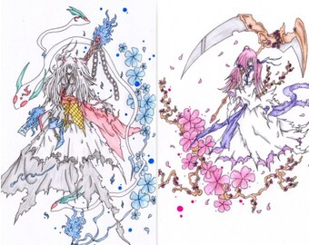 Ghost orge and snow rabbit + Ghost reaper and white berries