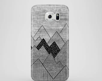 Grey Mountains phone case / Samsung Galaxy S7, Samsung Galaxy S6, Samsung Galaxy S6 Edge, Samsung Galaxy S5 / graphic samsung galaxy case