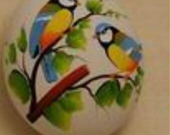 EggTwo birds blue