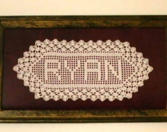 Customized Name Doily - 3-5 Letters