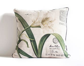 Flower Plant Pillow Cover 2 / Pillow Covers / Throw Pillow / Cushion Covers / Decorative Pillow Covers., Christmas Gift Idea