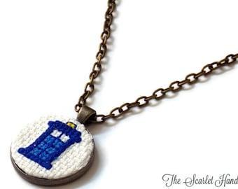 Tardis Inspired Pendant. Doctor Who Inspired Necklace. Made to Order