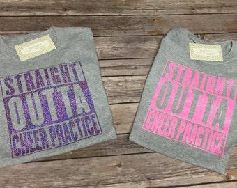 Straight Outta Cheer Practice Youth Shirt • Cheer Shirt • Cheerleader