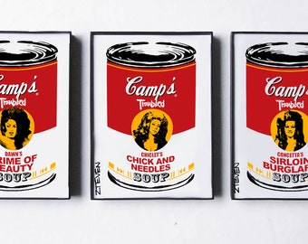 John Waters Divine Female Trouble Pop Art Soup, original framed trio by Zteven