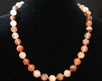 Red quartz necklace