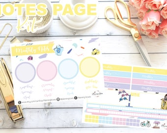 Spring Fling Collection Notes Page Kit