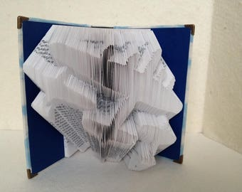 Folded Book Art Flying Airplanes Fabric Covered